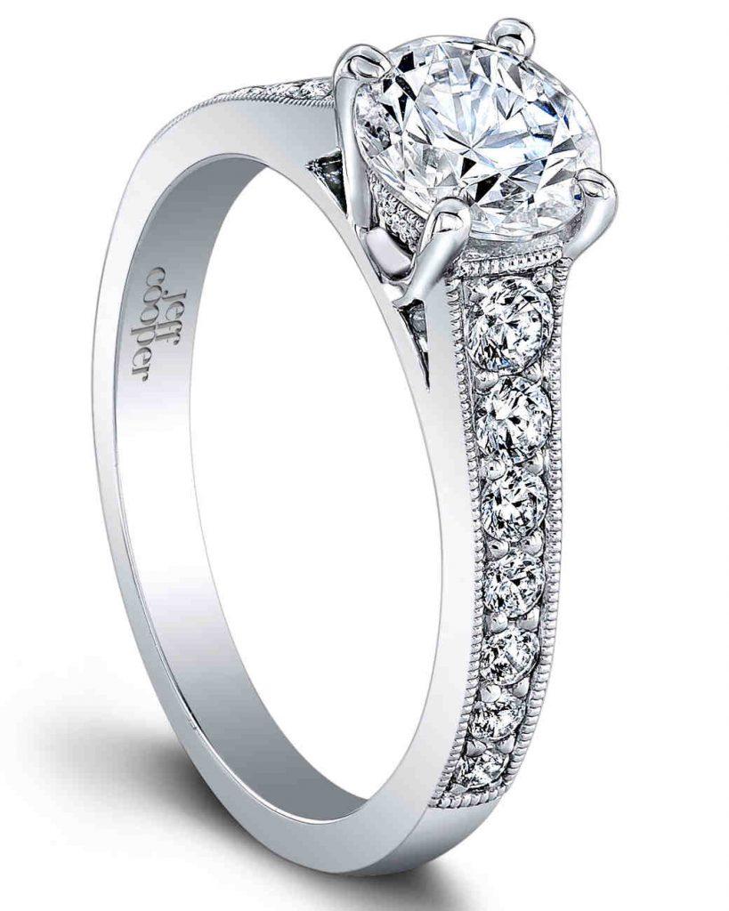 Jeff Cooper Designs Vintage Engagement Ring