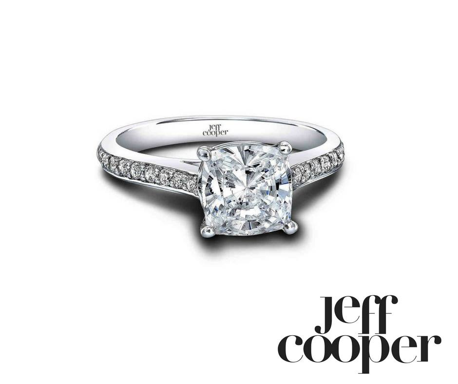 cushion cut engagement ring - jeff cooper